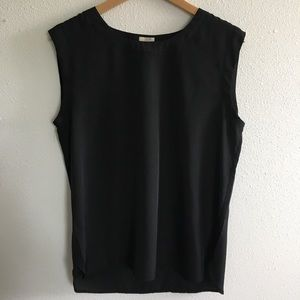 J Crew Factory sleeveless black blouse top M